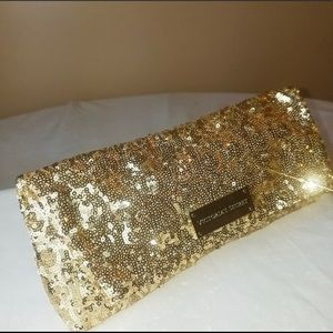 Victoria Secret Gold Sequin Clutch